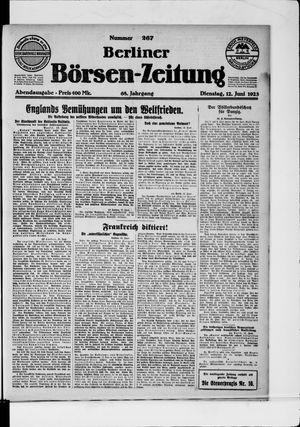 Berliner Börsen-Zeitung vom 12.06.1923