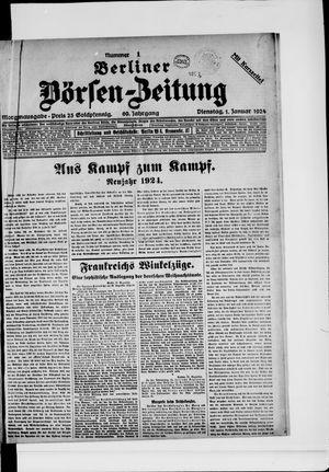 Berliner Börsen-Zeitung vom 01.01.1924