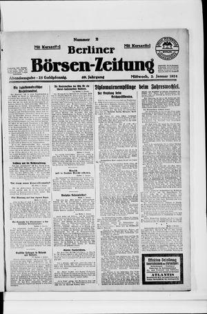 Berliner Börsen-Zeitung vom 02.01.1924