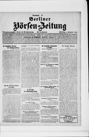Berliner Börsen-Zeitung on Jan 4, 1924