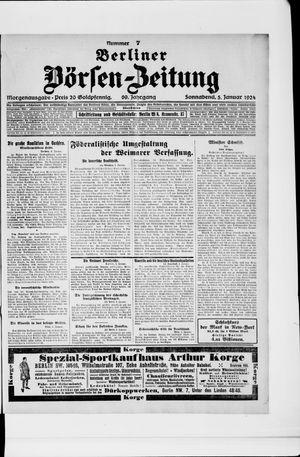 Berliner Börsen-Zeitung vom 05.01.1924