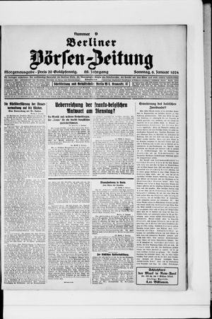 Berliner Börsen-Zeitung vom 06.01.1924
