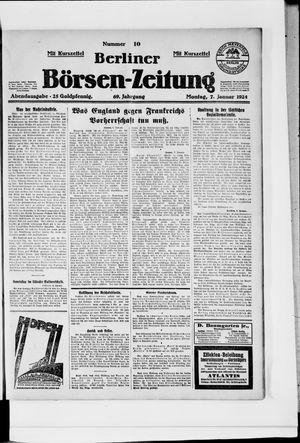 Berliner Börsen-Zeitung vom 07.01.1924