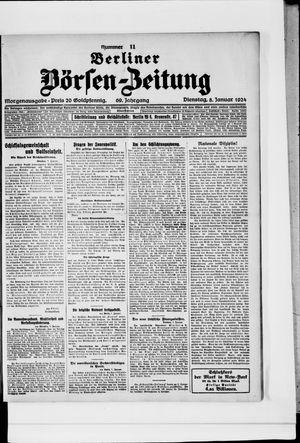 Berliner Börsen-Zeitung on Jan 8, 1924
