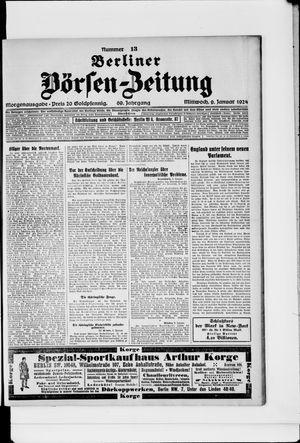 Berliner Börsen-Zeitung vom 09.01.1924