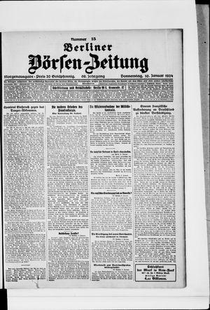 Berliner Börsen-Zeitung vom 10.01.1924