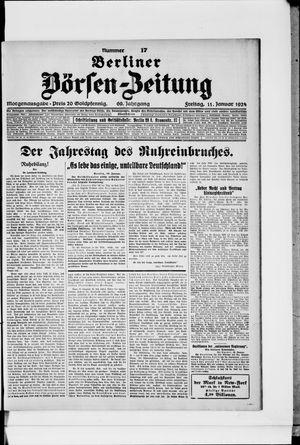Berliner Börsen-Zeitung vom 11.01.1924