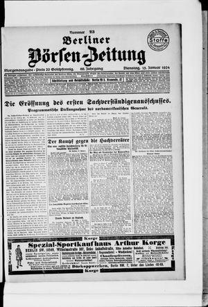 Berliner Börsen-Zeitung vom 15.01.1924