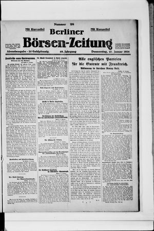 Berliner Börsen-Zeitung vom 17.01.1924