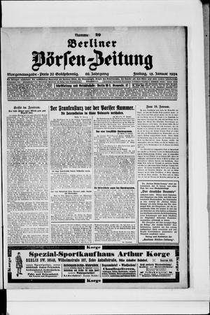Berliner Börsen-Zeitung vom 18.01.1924