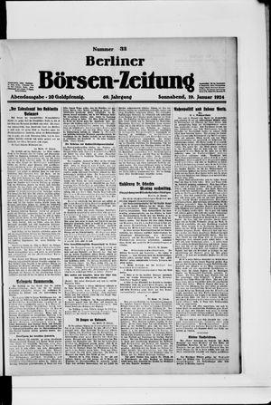 Berliner Börsen-Zeitung vom 19.01.1924