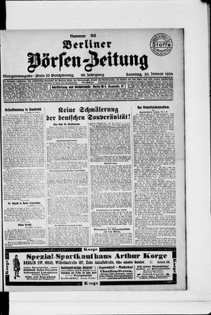 Berliner Börsen-Zeitung vom 20.01.1924
