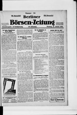 Berliner Börsen-Zeitung vom 21.01.1924
