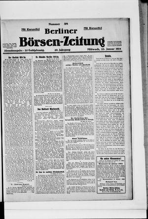 Berliner Börsen-Zeitung vom 23.01.1924