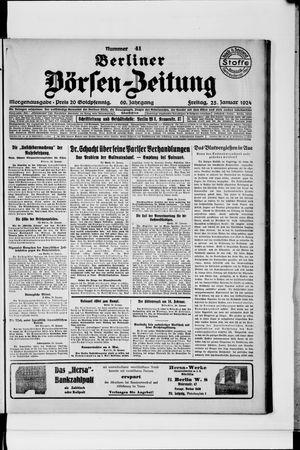 Berliner Börsen-Zeitung vom 25.01.1924
