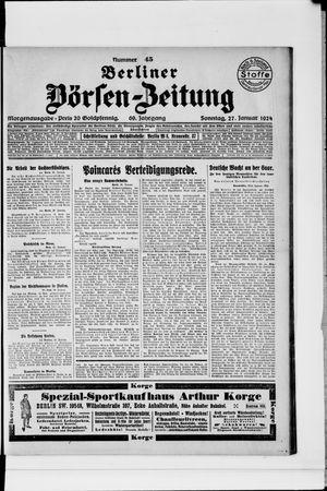 Berliner Börsen-Zeitung vom 27.01.1924