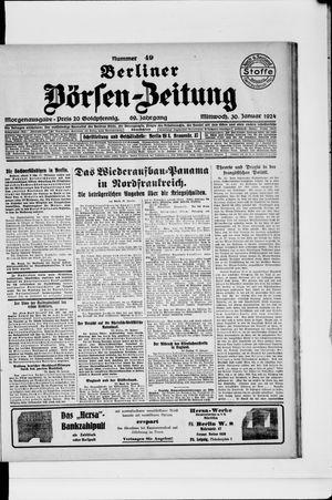 Berliner Börsen-Zeitung vom 30.01.1924