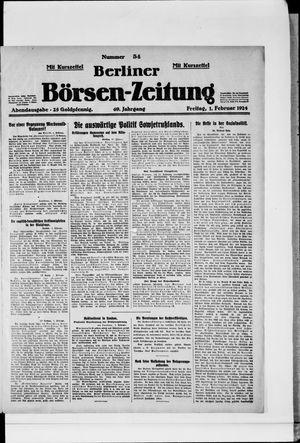Berliner Börsen-Zeitung vom 01.02.1924