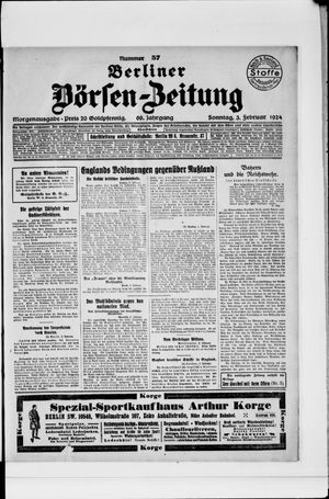 Berliner Börsen-Zeitung vom 03.02.1924