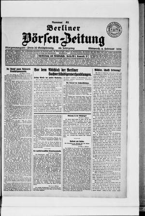 Berliner Börsen-Zeitung vom 06.02.1924