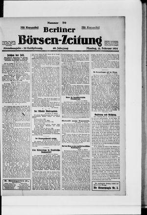 Berliner Börsen-Zeitung vom 11.02.1924