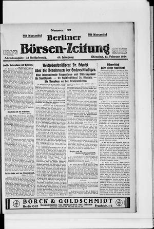Berliner Börsen-Zeitung vom 12.02.1924