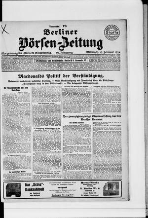 Berliner Börsen-Zeitung vom 13.02.1924