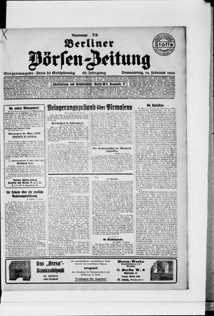 Berliner Börsen-Zeitung vom 14.02.1924