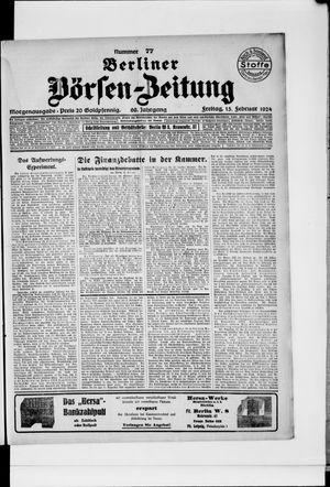 Berliner Börsen-Zeitung vom 15.02.1924
