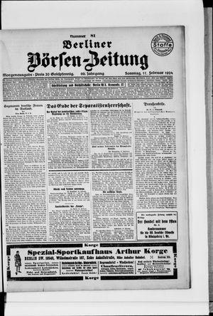 Berliner Börsen-Zeitung vom 17.02.1924