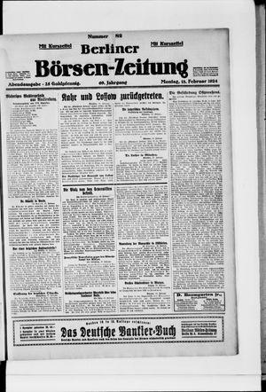 Berliner Börsen-Zeitung on Feb 18, 1924