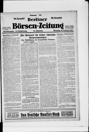 Berliner Börsen-Zeitung vom 19.02.1924