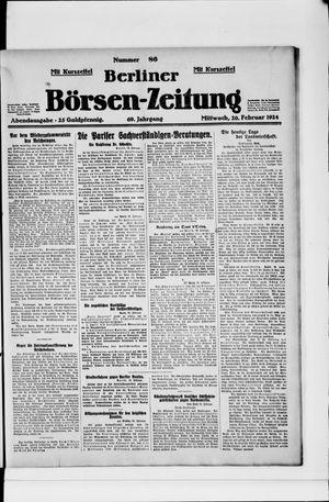 Berliner Börsen-Zeitung vom 20.02.1924