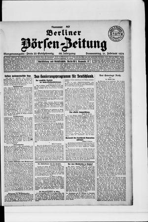 Berliner Börsen-Zeitung vom 21.02.1924