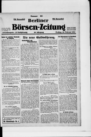 Berliner Börsen-Zeitung vom 22.02.1924