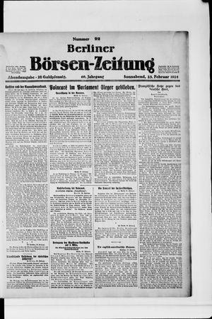 Berliner Börsen-Zeitung vom 23.02.1924