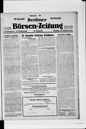 Berliner Börsen-Zeitung on Feb 25, 1924