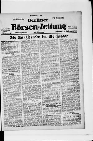 Berliner Börsen-Zeitung vom 26.02.1924