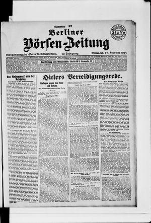 Berliner Börsen-Zeitung vom 27.02.1924