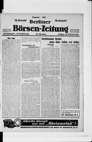 Berliner Börsen-Zeitung vom 29.02.1924