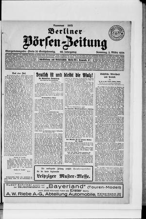 Berliner Börsen-Zeitung vom 02.03.1924