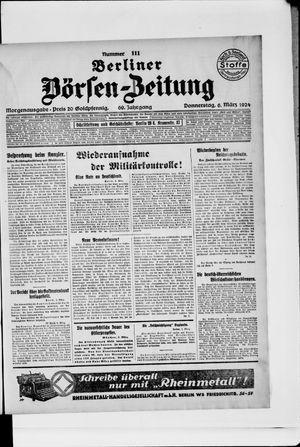 Berliner Börsen-Zeitung vom 06.03.1924