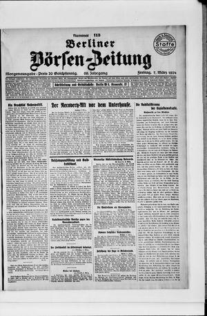 Berliner Börsen-Zeitung vom 07.03.1924