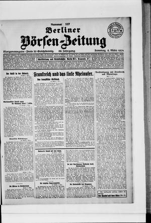 Berliner Börsen-Zeitung vom 09.03.1924