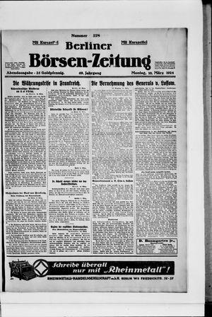 Berliner Börsen-Zeitung vom 10.03.1924
