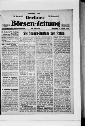 Berliner Börsen-Zeitung vom 11.03.1924