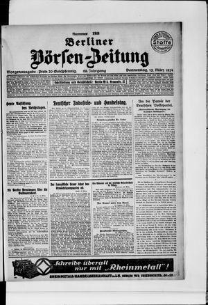 Berliner Börsen-Zeitung vom 13.03.1924