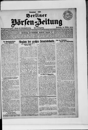 Berliner Börsen-Zeitung vom 14.03.1924