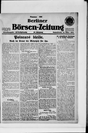 Berliner Börsen-Zeitung vom 15.03.1924