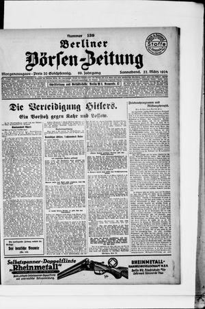 Berliner Börsen-Zeitung on Mar 22, 1924